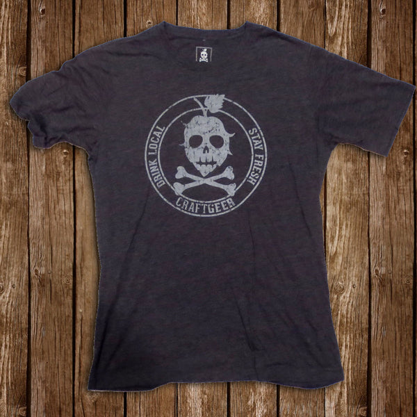 THE STAMP TEE (Charcoal), Men's Tee from CraftGeer