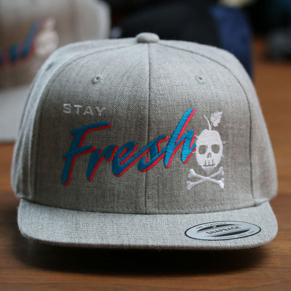 STAY FRESH Snapback (Heather Gray)