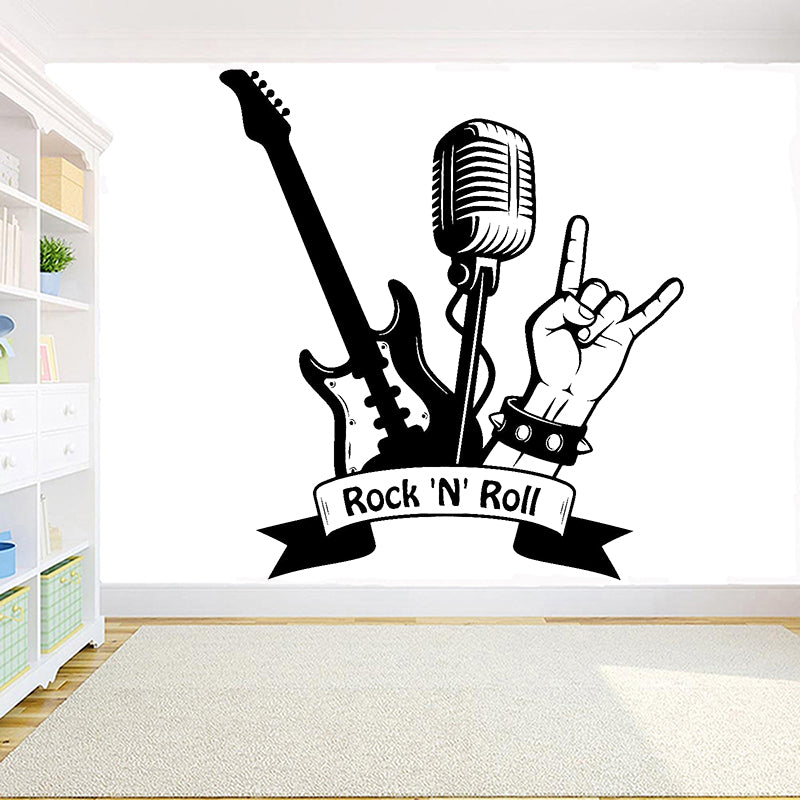"Sticker Musique ""Rock and Roll"""