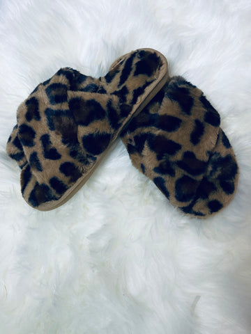 Leopard Let's Chill Slippers