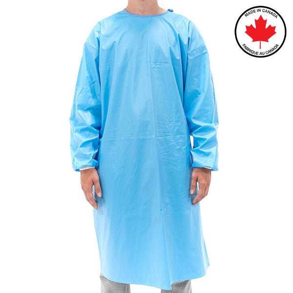 Premium Reusable Isolation Gown - Level 3 AAMI Certified, Made in Canada