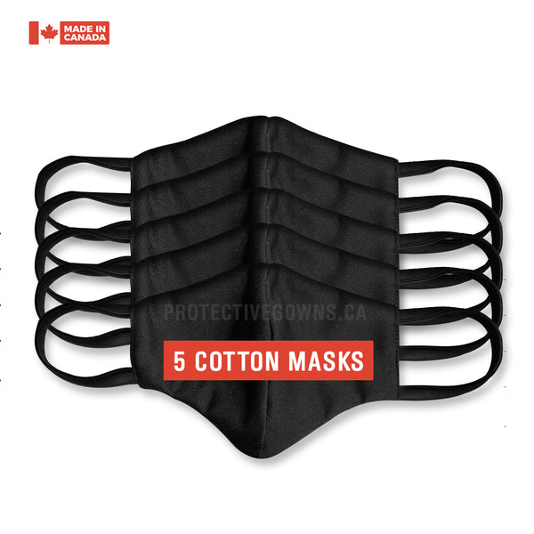 Cotton Face Masks (5-Pack)