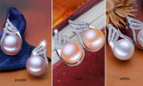 ZHBORUINI Natural Freshwater Pearl Earrings on 925 Sterling Silver ZE 003
