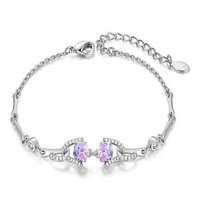 Cube Pink  Bracelet for Women with Crystal from Swarovski CDB 006