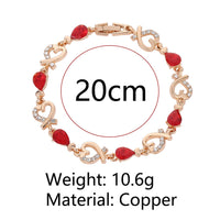 Magnificent Austrian Crystal Bracelet for Women available in 5 variants. TBR 1004