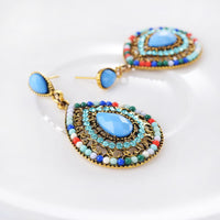 Vibrant Boho Vintage Drop Earrings TER 1001