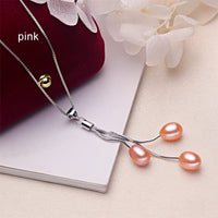 ZHBORUINI Pearl Necklace with Natural Pearl Pendant  set on 925 Sterling Silver ZH 230