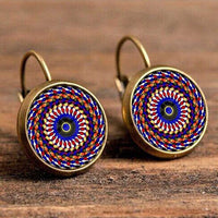 Exquisite Boho Vintage Floral Drop Earrings TER 1004