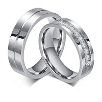 Couple Ring set for  Men And Women - 925 Sterling Silver with Zircon Settings R 4624. (Price quoted per piece)