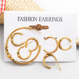 Hot Sale New Punk Style Earring Sets Bohemia Ear Clip Stud Earrings available in 7 variants. TRE 1011