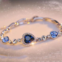 Charming Crystal Rhinestone Bangle available in 5 variants. TBR 1009
