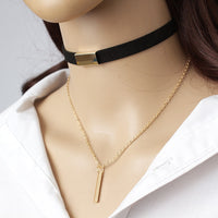 Dazzling Velvet Choker Necklace Strip rope Chain available in 4 variants