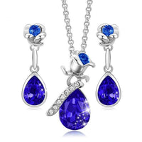 Women Water Drop Jewelry Set Embellished with crystals from Swarovski CDJ 002