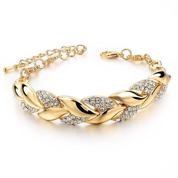 Stunning Braided Bracelets With Luxury Crystal Bracelets TBR 1001