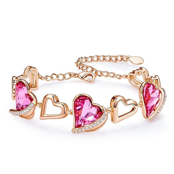 Women Heart Angel Bracelet Embellished With Crystals from Swarovski CDB 001