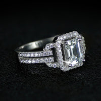 925 Sterling Silver Bridal Ring CZ R2101