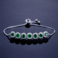 Emerald CZ Bracelet for Women S5243