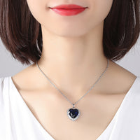 Trendy yet absolutely mesmerising. Stunning Sapphire Heart Pendant made of zircon combined with a 925 sterling silver necklace makes this a must have collection. X5794