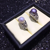 ZHBORUINI Natural Freshwater Pearl Ring set on 925 Sterling Silver KH013