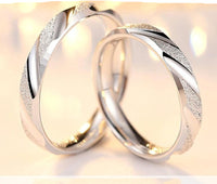 925 sterling silver couple ring women/men with Zircon setting R4345S (Price quoted per piece)