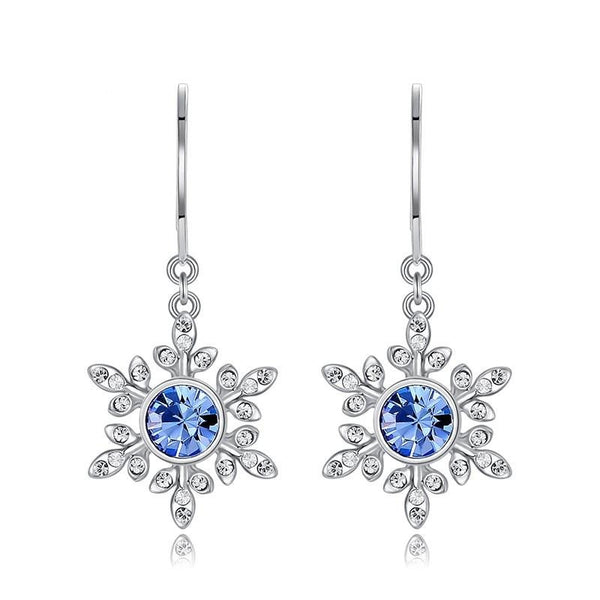 Snowflake Drop Earrings with Crystal from Swarovski CDE 006