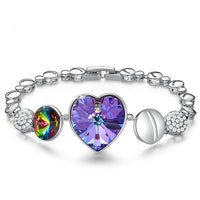 Heart Shaped Bracelets  with crystals from  Swarovski CDB 005