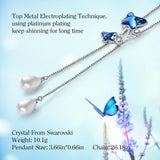 Women Necklace Embellished with Crystals from Swarovski - Butterfly Pendant Necklace CDN004