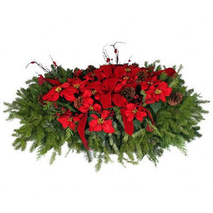 Christmas Grave Blanket - Poinsettia