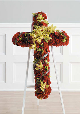 Complementary Red & Green Standing Cross