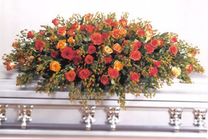 Rose and Hypericum Casket Spray