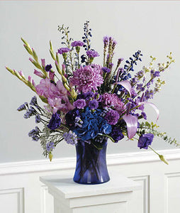 Purple Monochromatic Vase Arrangement