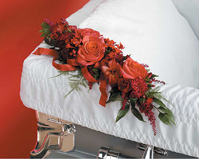 Red Corsage Lid Decoration