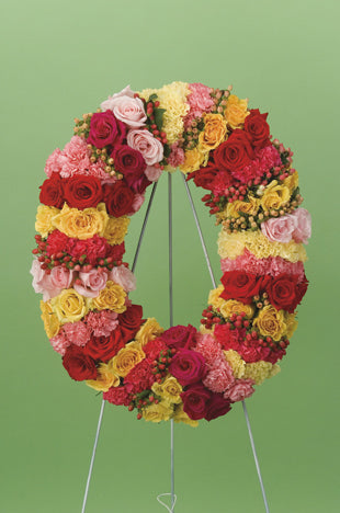 Rings of Color Wreath
