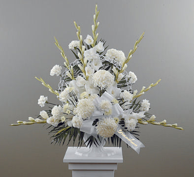 Traditional Funeral Spray with Glads