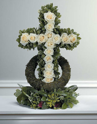 White Rose - Accented Cross
