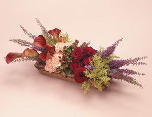Wooden Basket Arrangement