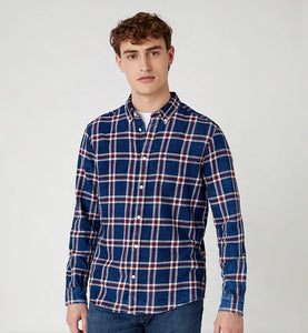 WRANGLER LONG SLEEVE ONE POCKET CHECK SHIRT