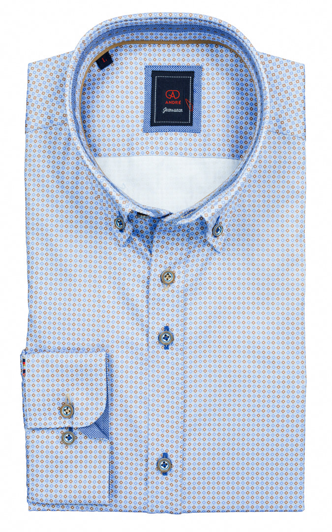 ANDRE CASUAL SHIRT CROSBY BLUE