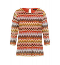 Load image into Gallery viewer, MORE & MORE <BR> Zigzag Shirt <BR> Multi <BR>