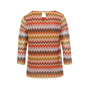 MORE & MORE <BR> Zigzag Shirt <BR> Multi <BR>