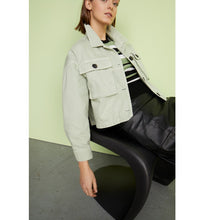 Load image into Gallery viewer, MORE & MORE <BR> Cargo Jacket <BR> Mint Green <BR>