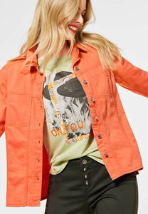 STREET ONE <BR> Denim Jacket <BR> Orange <BR>