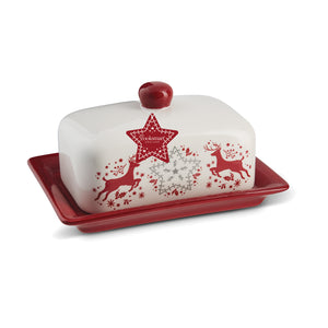 WINTER WONDERLAND BUTTER DISH