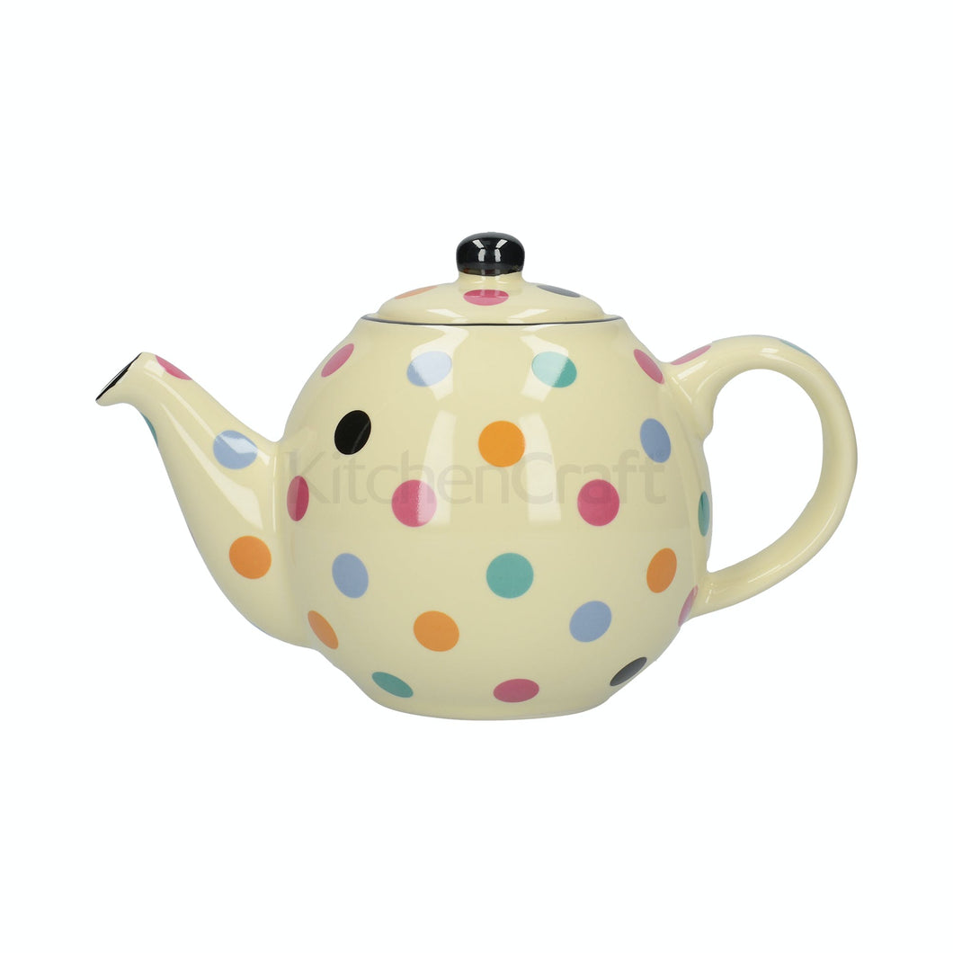 LONDON POTTERY 6 CUP TEAPOT SPOTTY