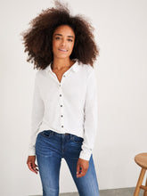 Load image into Gallery viewer, White Stuff Pom Trim Jersey Shirt