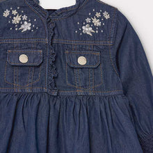 Load image into Gallery viewer, MAYORAL DENIM DRESS WITH RUFFLES
