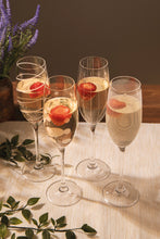 Load image into Gallery viewer, MIKASA SET OF 4 CHAMPAGNE FLUTE GLASSES