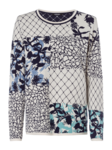 Load image into Gallery viewer, OLSEN ROUND NECK JUMPER WITH PATCHWORK PRINT