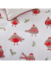Load image into Gallery viewer, Catherine Lansfield Robins Christmas Single Duvet Cover Set