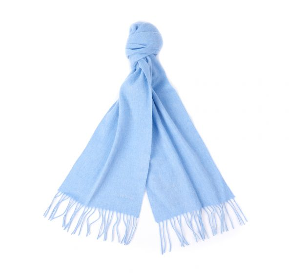 BARBOUR LAMBSWOOL WOVEN SCARF BLUE